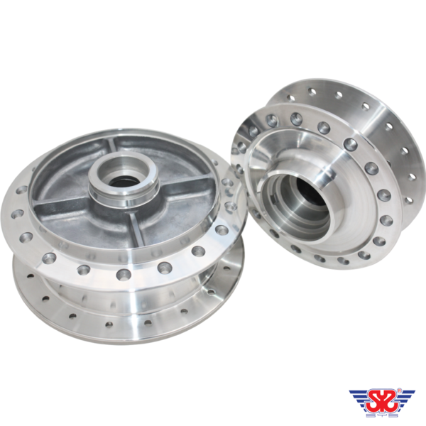 SYS WAVE125 DIAMOND POLISH FRONT & REAR HUB SET