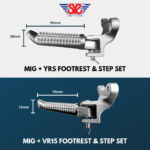 SYS MIG + YRS & VR15 footrest & step set